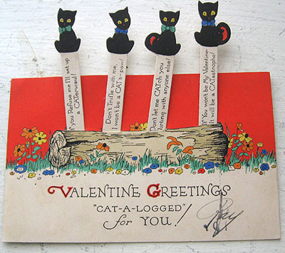 Vintage Valentines Day cards at auction – Old Valentines Day Cards
