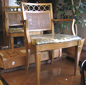I Got New Dining Room Furniture Some Years Ago My Old Set Had A Wicker Back And Padded Faux Leather Seats Wanted Something Little Classier