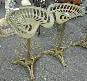 These two were among the Ch&ion tractor seats ready for sale. One collector said the seats were rarely made for tractors but for other farm implements. & Antique tractor seats as bar stools | Auction Finds islam-shia.org
