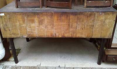 The Butcher Block Table Sold For 525 At Auction