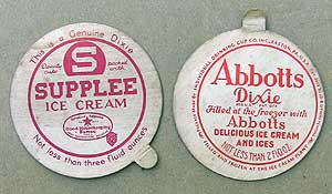 Dixie Cup ice cream lids