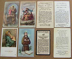 A lovely old tin of Catholic holy cards | Auction Finds