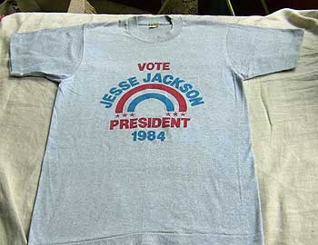 Campaign T-shirts, buttons