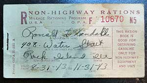 wwII ration book