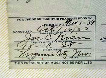 prohibitiion medical prescription for whiskey