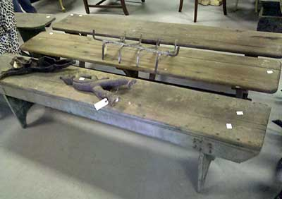 primitive farmhouse bench