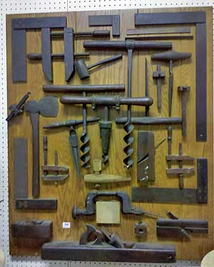 Wall plaque of woodworking tools