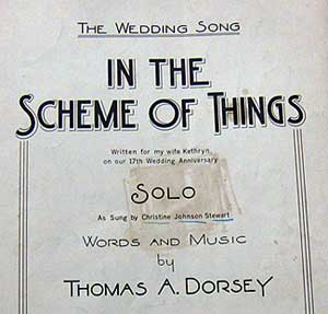 1958 Thomas A  Dorsey gospel song to his wife | Auction Finds