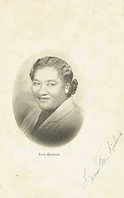 Lena Richards cookbook
