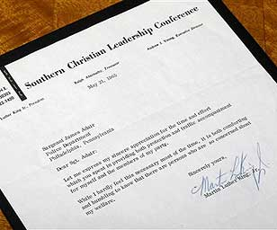 letter signed by Dr. Martin Luther King Jr.