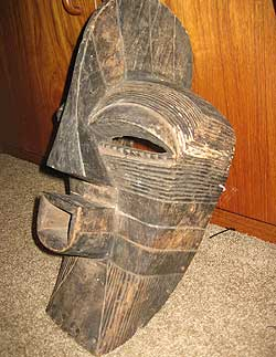 African mask and carving