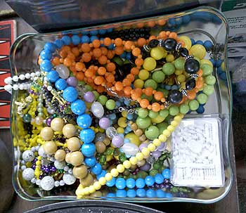 Colorful beads.
