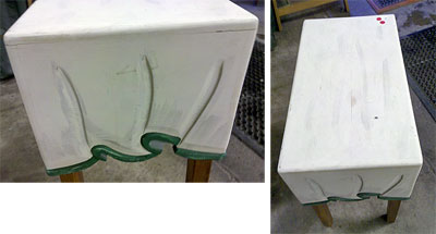 wooden table with folds