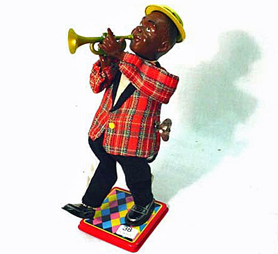 Louis Armstrong wind-up toy