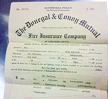 A 1918 Car Insurance Policy For 5 20 Auction Finds