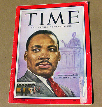 Dr. Martin Luther King Time mag cover