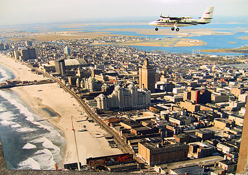 Aerial view of Atlantic City before the casinos