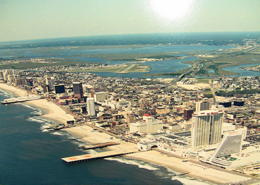 Atlantic City aerial view after casinos