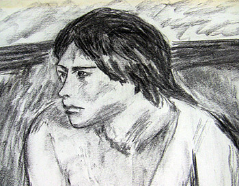 "Artists drawing of ""Linda"""