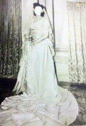 bride wearing wedding dress