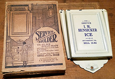 ice pick and coupon book holder