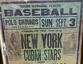 Negro Leagues baseball game poster
