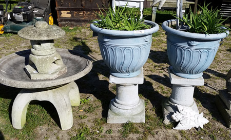 Stone planters & water fountain