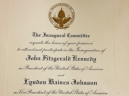 Invitation to kennedys 1961 inauguration auction finds kennedy inauguration invitation stopboris Gallery