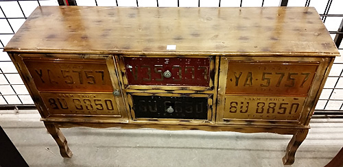 Delicieux License Plate Cabinet