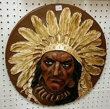 Plaster plaque of Native American chief