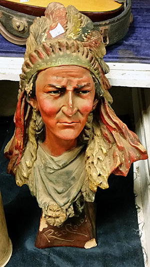 Red Cloud plaster bust