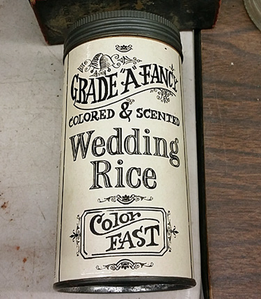 wedding rice can