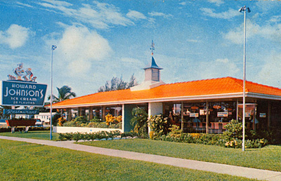 A Howard Johnson's restaurant postcard. Photo from blog.theamericanguide.org.