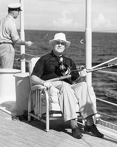 Roosevelt fishing