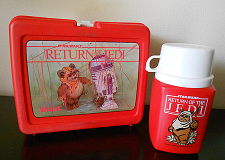 Star Wars Ewok thermos with lunchbox. Photo from Old Vintage Goods at etsy.com.