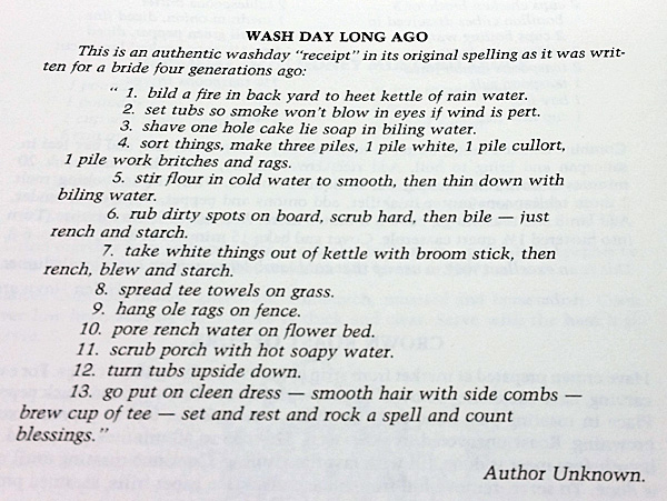 wash day recipe