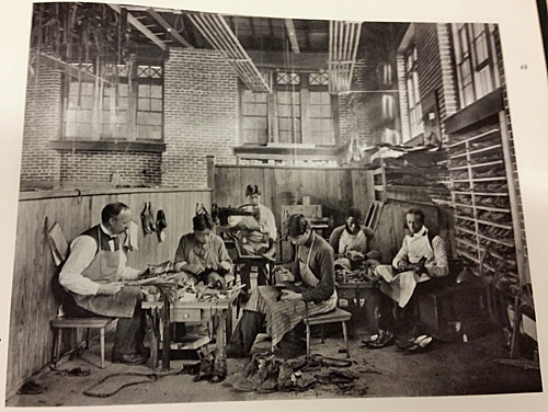 Hampton students in a shoe-making class.