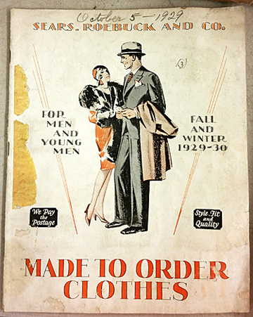 The front cover of the Sears made-to-order catalog.