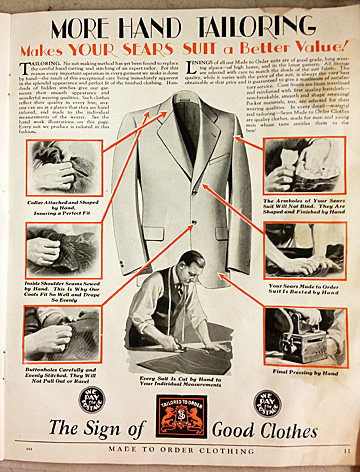 A photo demonstration of how the suit is made.