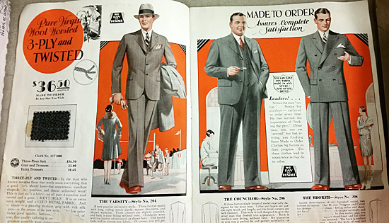 Sears made-to-order suits for men who were leaders.