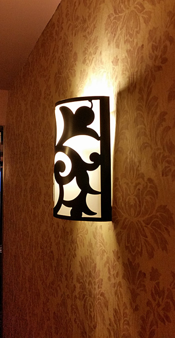 Wall sconces lined the hallways.