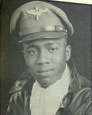 My uncle Charles Howard. This photo was likely taken while he was training at Moton Field.