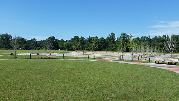 The park area on the Moton Field site.