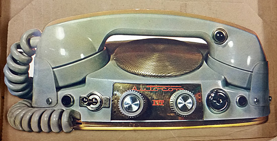 ITT Autocom car phone, circa 1950.