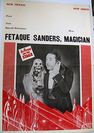 Full view of the Fetaque Sanders poster from the auction.