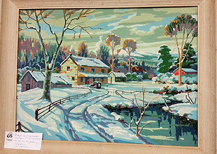 """Winter Shadows,"" a paint-by-numbers painting by Craftint."