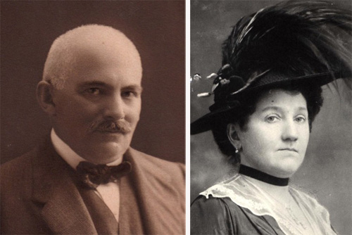 Alfred Bachwitz and his wife Rosine. Photos from data.synagoge-eisleben.de.