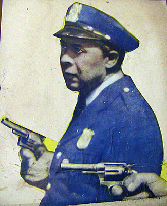 Full view of cut-out presumably from an Oscar Micheaux movie poster.
