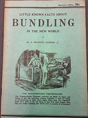 The cover of A. Monroe Aurand's book on bundling.