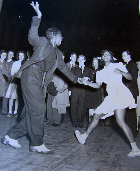 A young couple dance at Madison Square Garden, 1941.